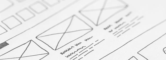 Wireframes for website development