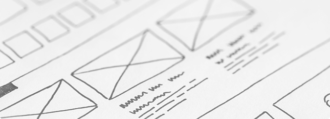 Wireframes for website development