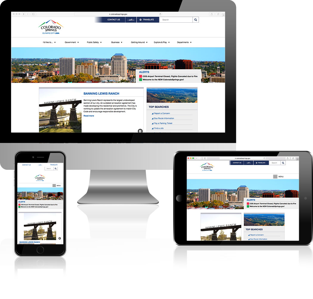 City of Colorado Springs Web Design Showcase