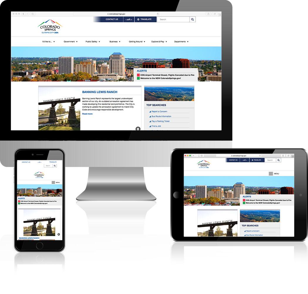 City of Colorado Springs Web Design Showcase