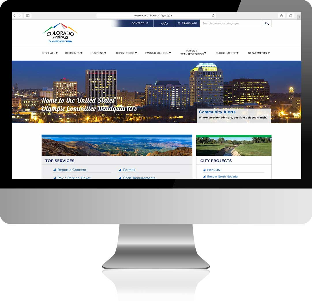 The City of Colorado Springs Homepage Design