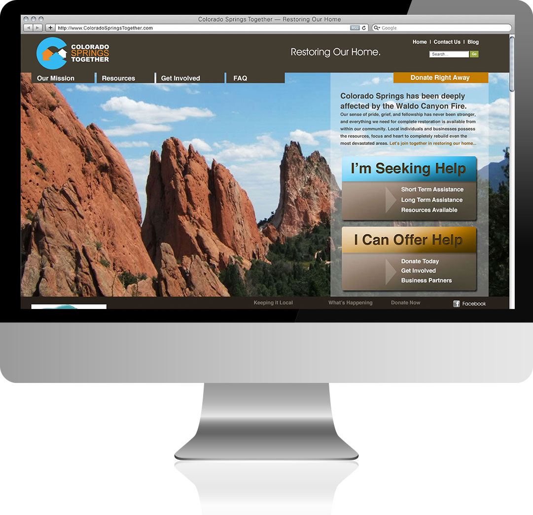 Colorado Spring Together Homepage Design