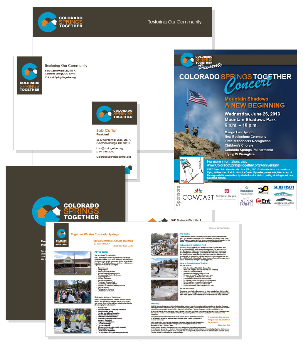 Colorado Springs Together Webpage Design Examples