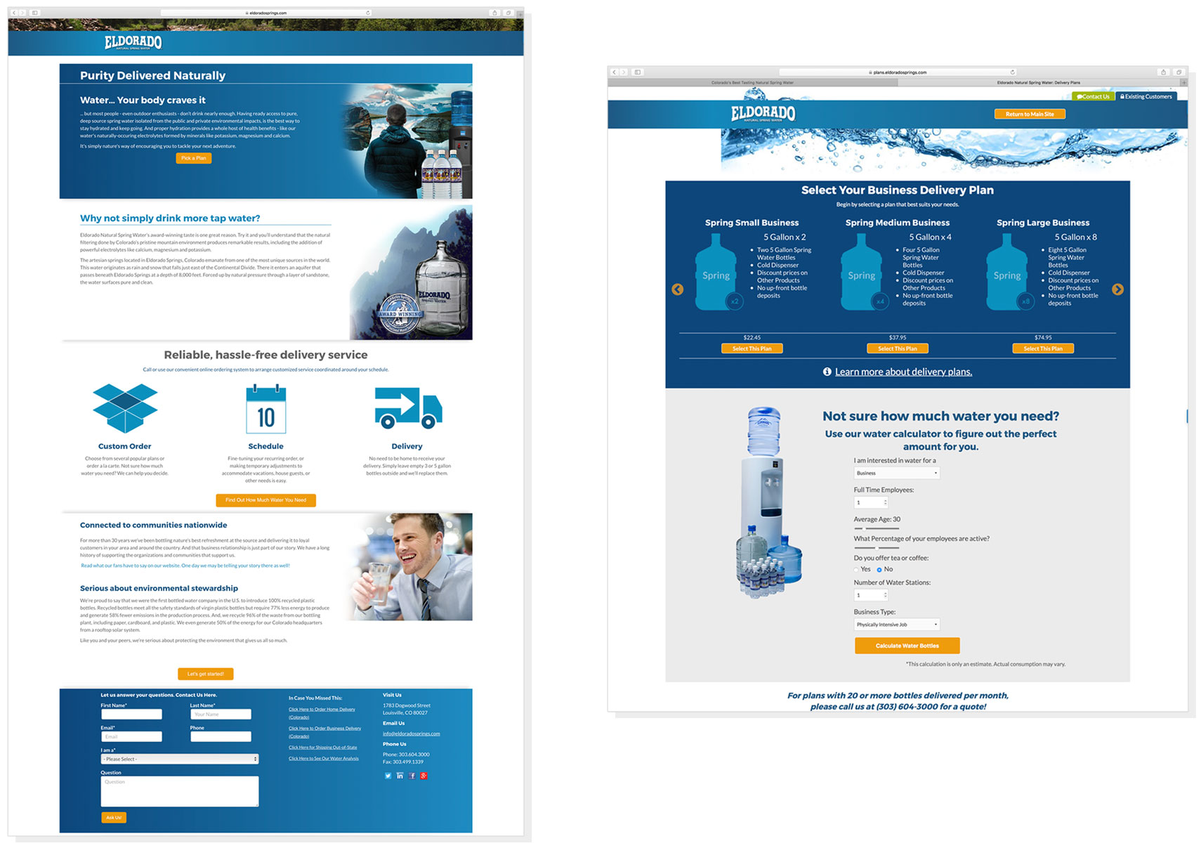 Eldorado Website Design Example