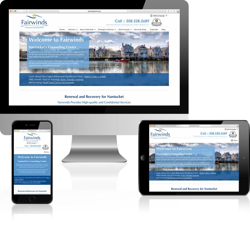 Fair winds website design