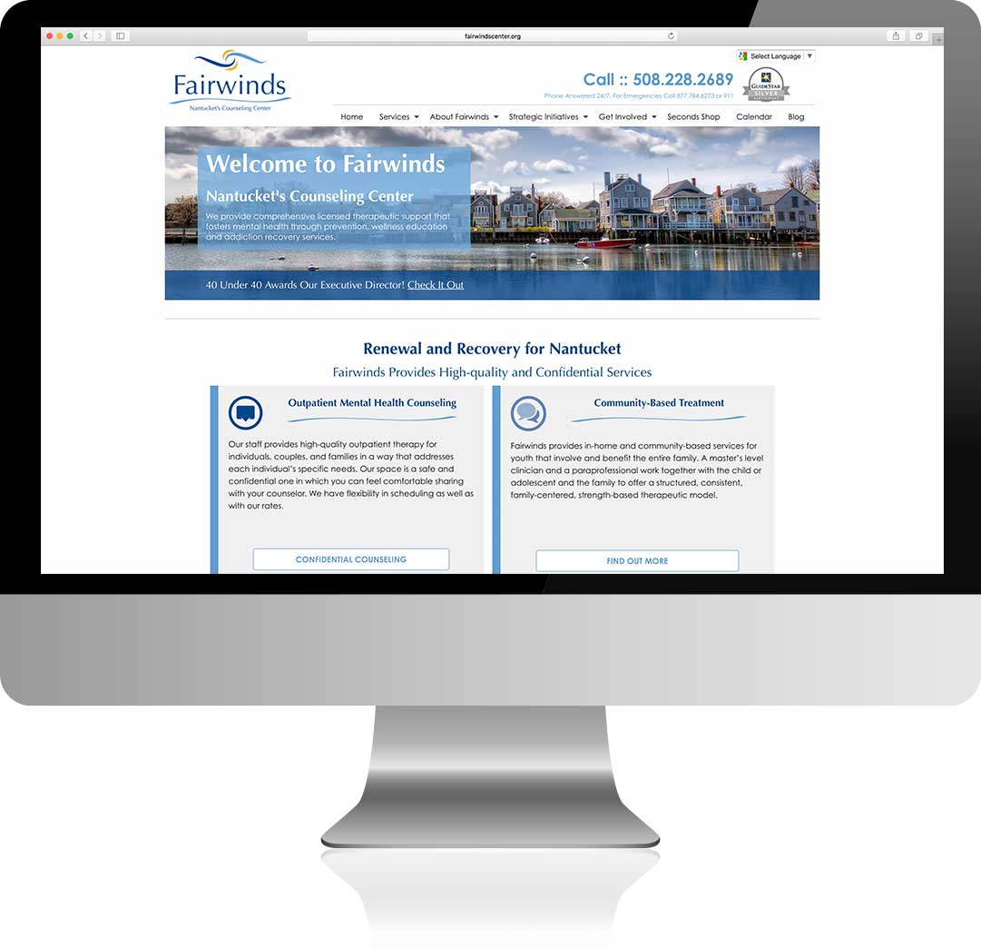 Fair winds Homepage Design