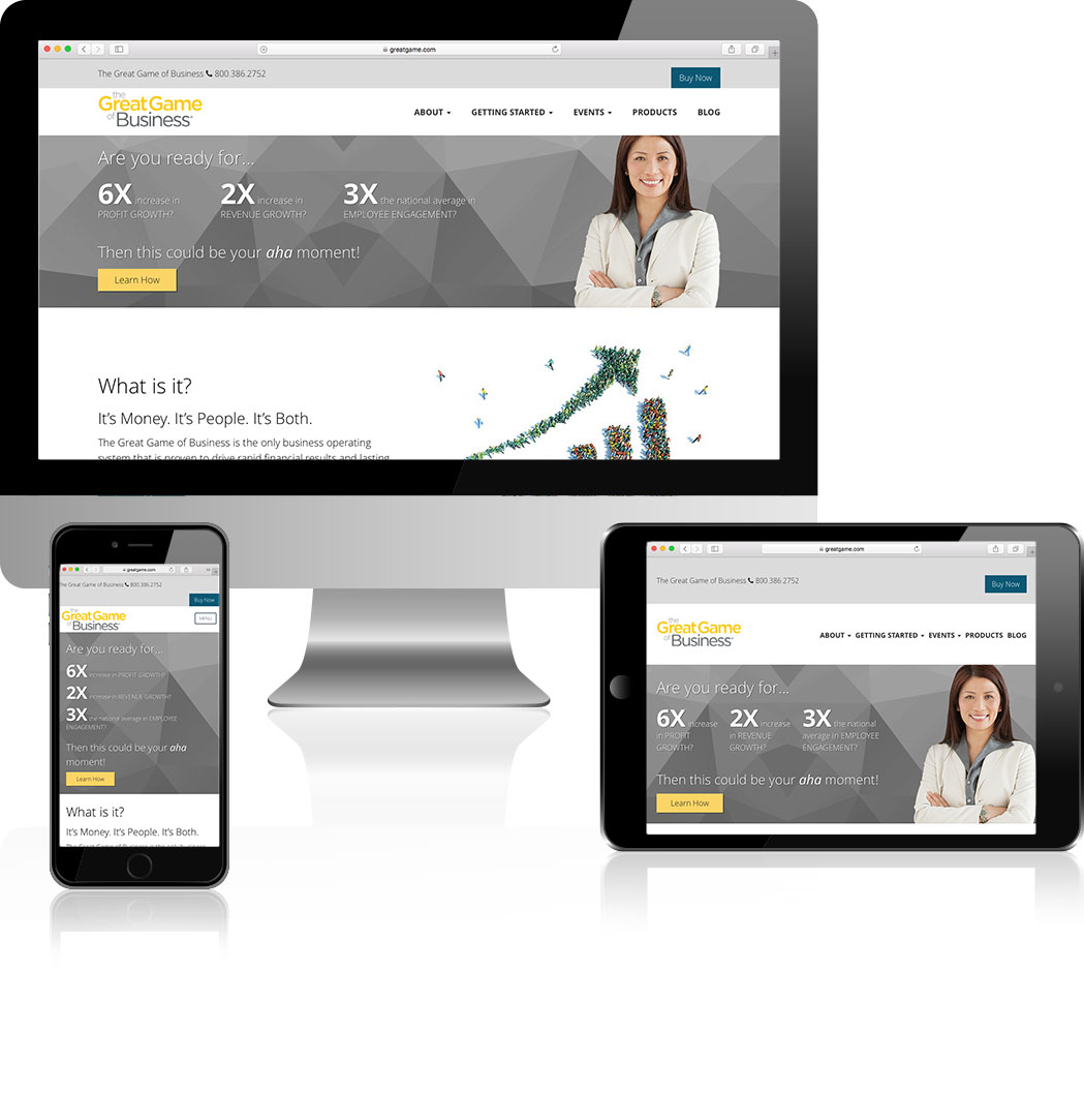Example of smart website design