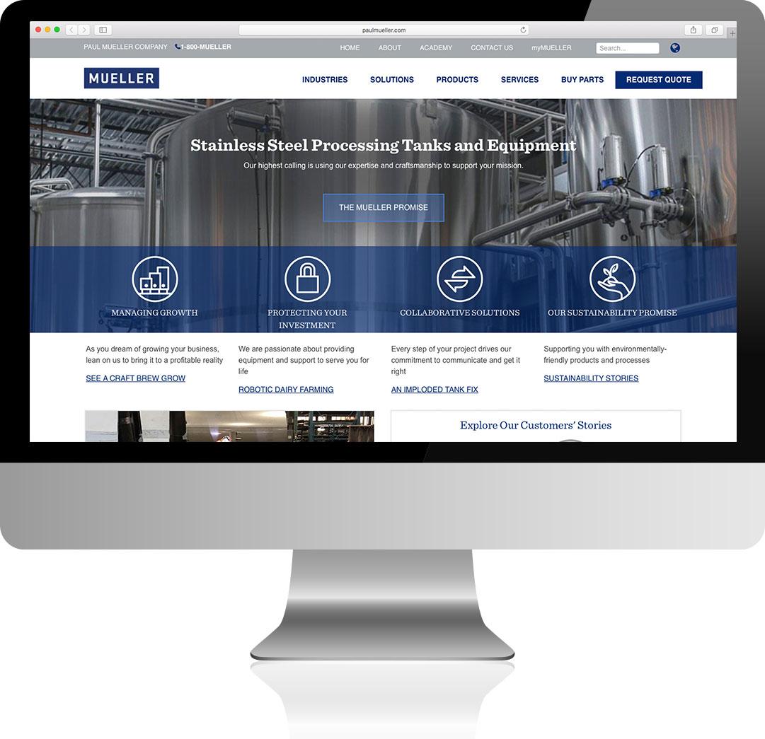 Paul Mueller Company Homepage Design