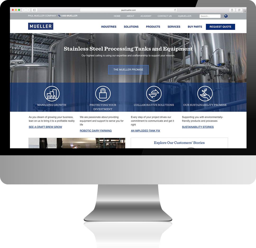 Paul Mueller Company Homepage Design