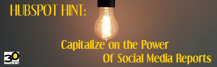 Capitalize on the power of social media reporting.