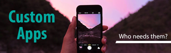 """Custom Apps: Who Needs Them?"" Phone taking of sunset in moutnain valley"