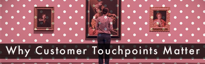 """""""Why Customer Touchpoints Matter"""" Lady viewing portrait in gallery"""
