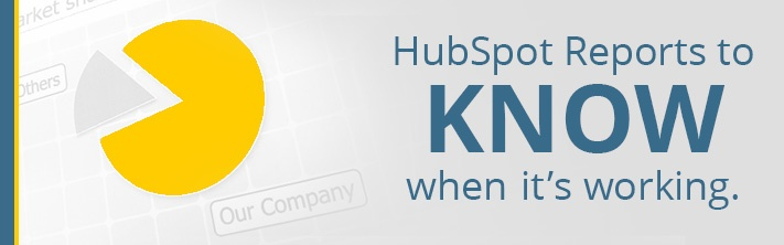 """""""HubSpot Reports to KNOW when it's working."""" market share graph"""