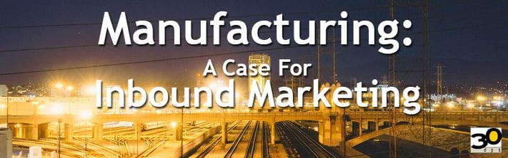 Inbound Marketing in manufacturing industry